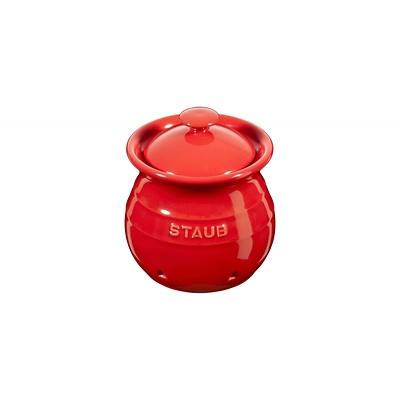 Staub - pojemnik do przechowywania czosnku, czerwony