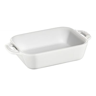 Staub -prostokątny półmisek ceramiczny, biały