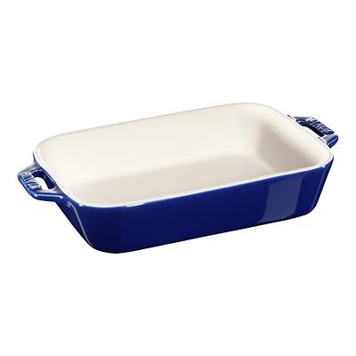 Staub -prostokątny półmisek ceramiczny, niebieski