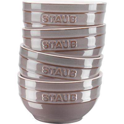Staub - Zestaw 4 ceramicznych misek, antyczny grafitowy