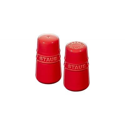 Staub - zestaw do soli i pieprzu, czerwony