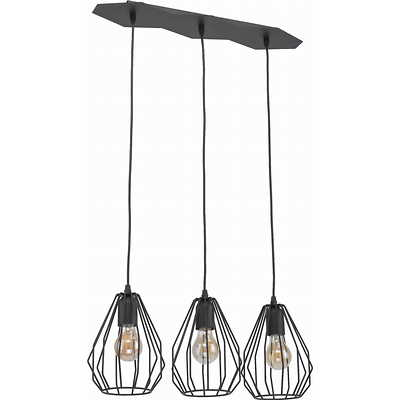 Tk Lighting - Brylant Black 3 pł Lampa wisząca