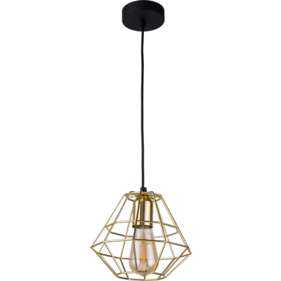 Tk Lighting - Diamond Gold Lampa wisząca