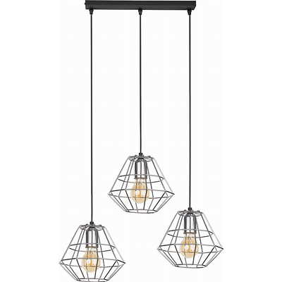 Tk Lighting - Diamond Silver 3 pł Lampa wisząca