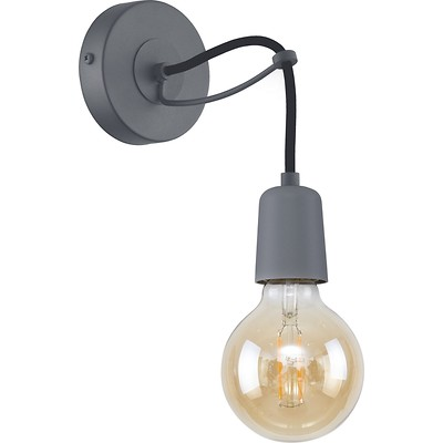 Tk Lighting - Qualle Grey Kinkiet