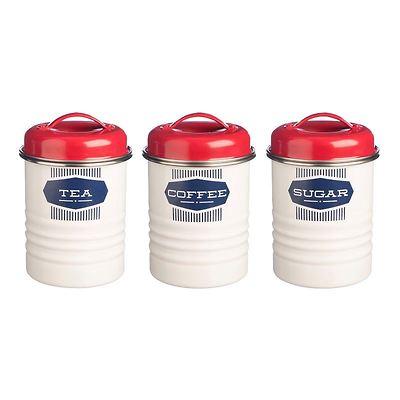 Typhoon - Belmont Zestaw 3 pojemników do kawy, herbaty i cukru