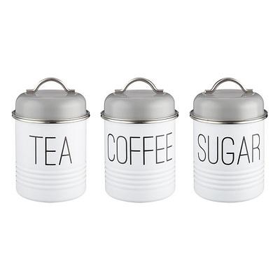 Typhoon - Vintage Mayfair Zestaw 3 pojemników do kawy, herbaty i cukru