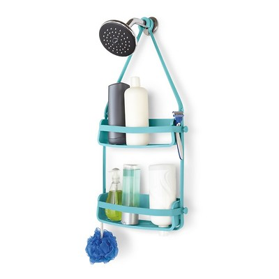 UMBRA - Flex Shower Caddy Półka pod prysznic, turkus