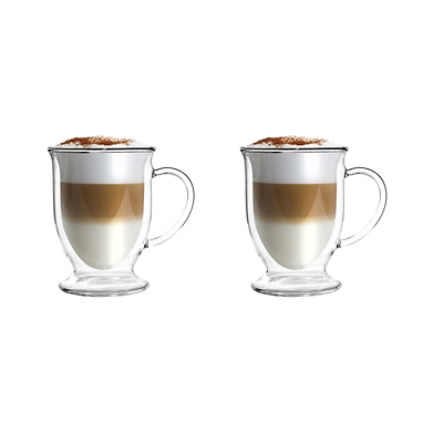 Vialli Design - Amo Zestaw 2 szklanek z podwójną ścianką do latte
