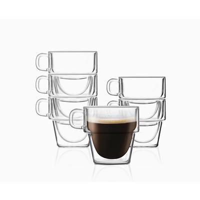 Vialli Design - Senso Komplet 6 szklanek do espresso z podwójną ścianką