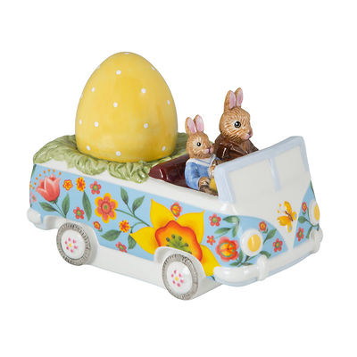 """Villeroy & Boch - Bunny Tales Figurka porcelanowa """"Króliczki w autobusie """""""