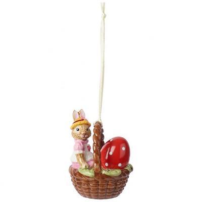 """Villeroy & Boch - Bunny Tales Zawieszka """"Króliczek Anna w koszyku"""""""