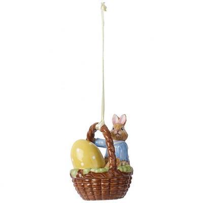 """Villeroy & Boch - Bunny Tales Zawieszka """"Króliczek Max w koszyku"""""""