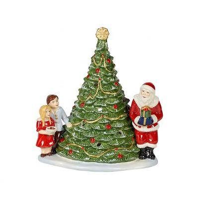 """Villeroy & Boch - Christmas Toys Lampion """" Św. Mikołaj i Dzieci przy choince"""""""