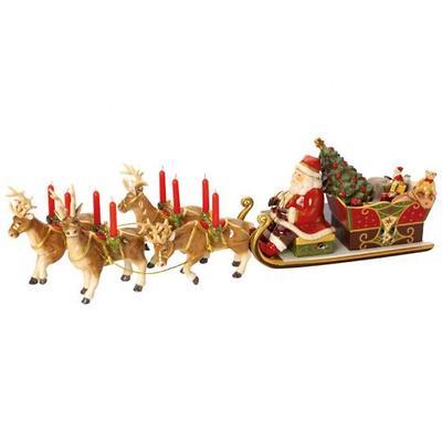 Villeroy & Boch - Christmas Toys Memory Świecznik z pozytywką Kulig ze św. Mikołajem