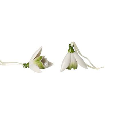 Villeroy & Boch - Mini Flower Bells Komplet zawieszek porcelanowych - przebiśniegi