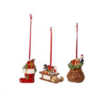 Villeroy & Boch - Nostalgic Ornaments Komplet 3 zawieszek Prezenty