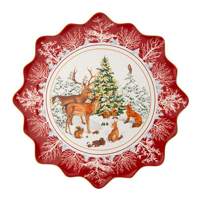 Villeroy & Boch - Toy's Fantasy duży talerz na wypieki, leśne zwierzęta