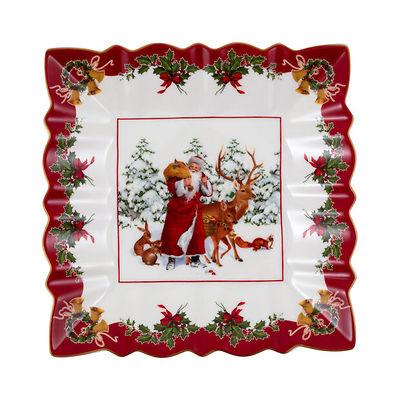 Villeroy & Boch - Toy's Fantasy kwadratowa miska św. Mikołaj i leśne zwierzęta
