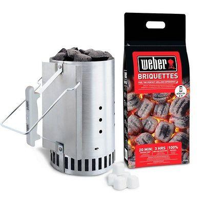 Weber - Zestaw do rozpalania grilla + brykiet 2 kg