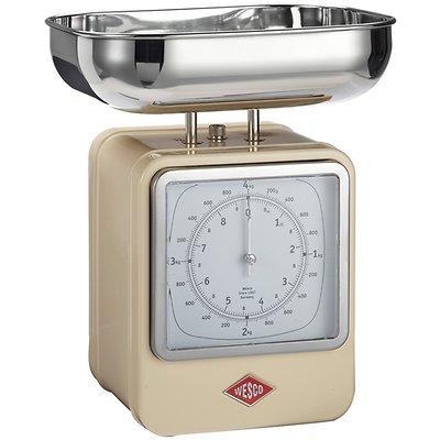 Wesco - waga kuchenna z zegarem, beżowa