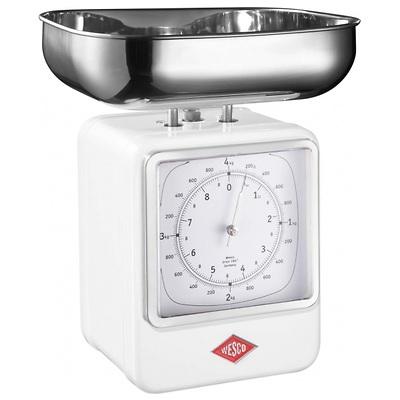Wesco - waga kuchenna z zegarem, biała
