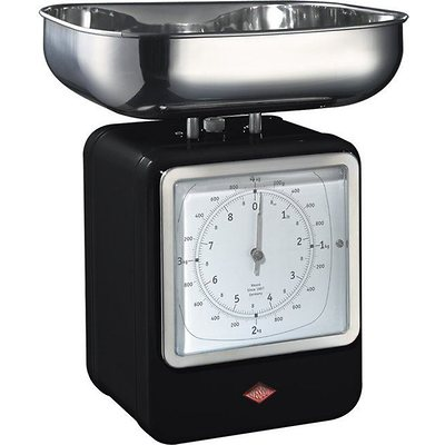 Wesco - waga kuchenna z zegarem, czarna