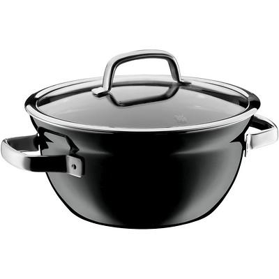 WMF - Garnek/Miska do gotowania z pokrywką Fusiontec Mineral, czarny