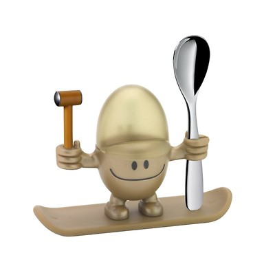 WMF - McEgg Kieliszek do jajka z łyżeczką, złoty