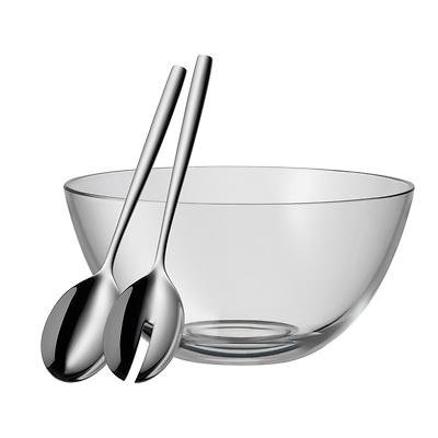 WMF - Taverno, Szklana miska z łyżkami do sałaty