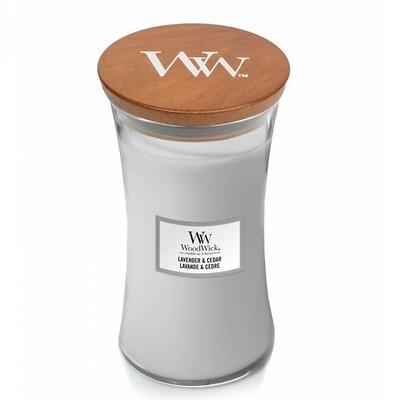 WoodWick - Świeca duża Lavender & Cedar