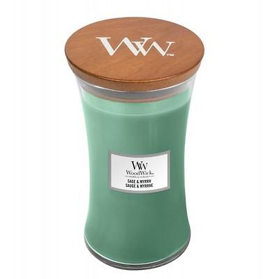 WoodWick - Świeca duża Sage & Myrrh