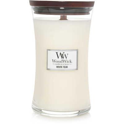 WoodWick - Świeca duża White Teak