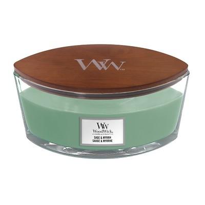 WoodWick - Świeca Elipsa Sage & Myrrh