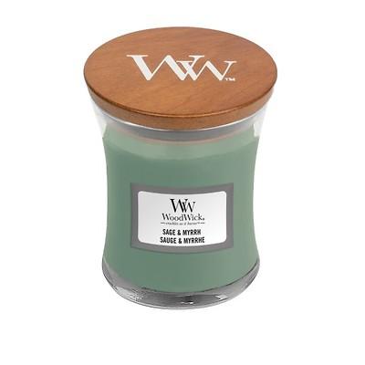 WoodWick - Świeca mała Sage & Myrrh