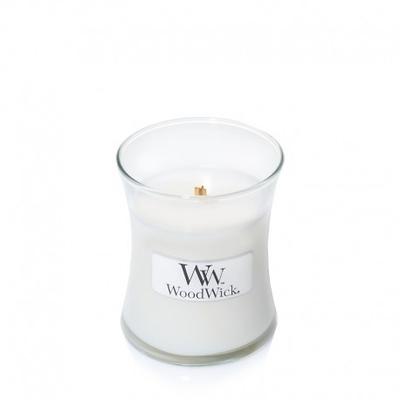 WoodWick - Świeca mała White Tea & Jasmine