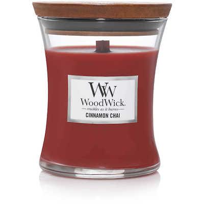 WoodWick - Świeca średnia Cinnamon Chai