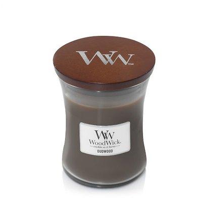 WoodWick - Świeca średnia Oudwood