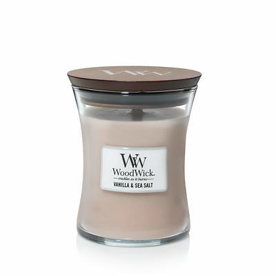 WoodWick - Świeca średnia Vanilla & Sea Salt