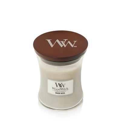 WoodWick -  Świeca średnia  Warm Wool
