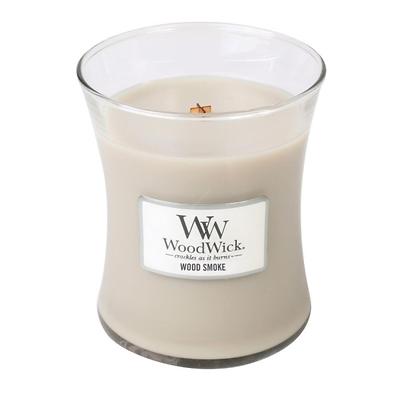 WoodWick - Świeca średnia Wood Smoke