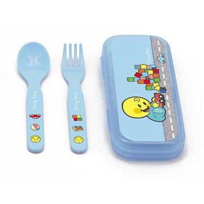 Zak! designs - Smiley baby Zestaw sztućców dla chłopca