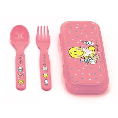 Zak! designs - Smiley baby Zestaw sztućców dla dziewczynki