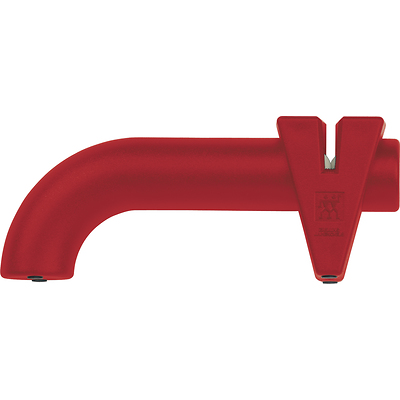 Zwilling - Twin Sharp - stalowo-ceramiczna ostrzałka krążkowa czerwona
